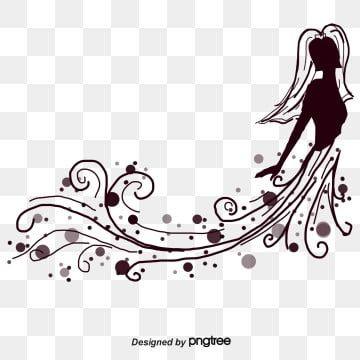 ناقلات الكرتون الإبداعية العروس فستان الزفاف العروس فستان زفاف جميل ناقلات فستان الزفاف Png وملف Psd للتحميل مجانا Wedding Illustration Bride Clipart Hand Painted Wedding Dress