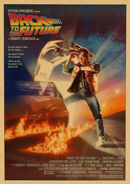 Back to the Future Original Movie Poster From 1985. Various Sizes Available. - 21x30cm (A4)