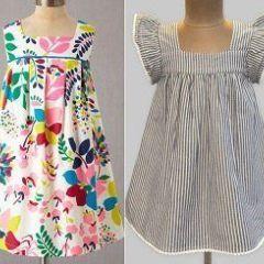 Vestido De Niña Sencillo Baby Dress Patterns Kids Dress Little Girl Dresses