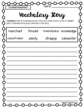3rd Grade Reading Street Vocabulary Writing Activity Units 1