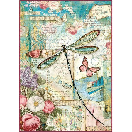 Rice Paper Decoupage Scrapbook Craft Sheet Woman and Butterfly 441