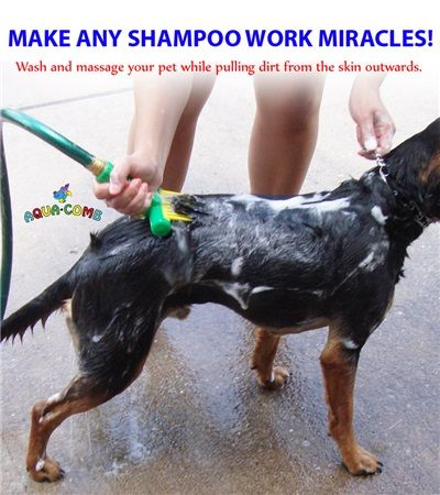 Pet Aqua Comb Creates A Deep Hydro Massage That Relaxes The Animal Making Wash Time Easier And More Fun Water Spray Removes All The Soa Pets Pet Clinic Aqua