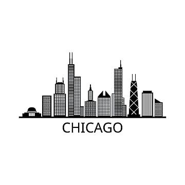 Skyline Chicago Chicago Icons Skyscraper Scraper Png And Vector With Transparent Background For Free Download Chicago Chicago Cityscape Chicago Skyline