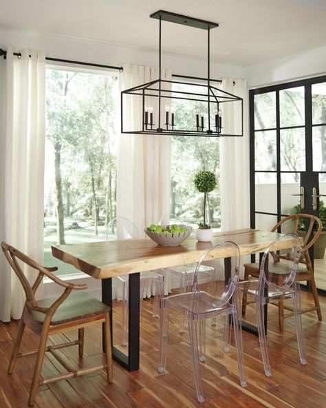 Perryton Linear Chandelier With Images Farmhouse Dining Room
