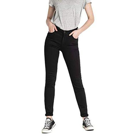 Lee Scarlett High Black Rinse Jeans Skinny Donna