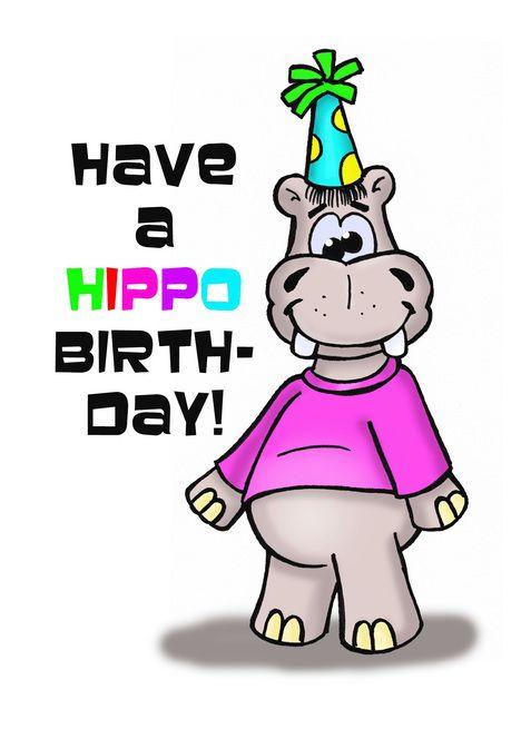 Have A Hippo Birthday Card With A Cartoon Hippopotamus Card Ad Ad Card Birthday Hippo Card Birthday Cards Hippo Birthday