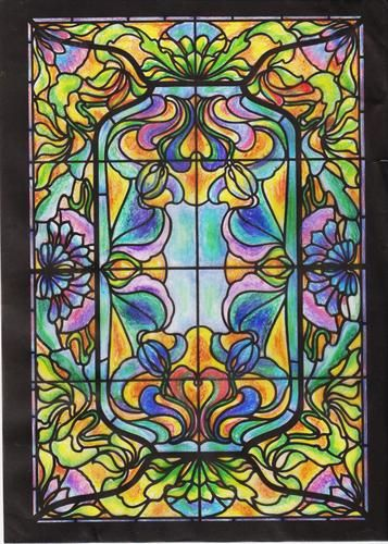 Art Nouveau Windows Stained Glass Coloring Book Dover Design Stained Glass Coloring Book A G Smith 8601400593615 Amazons Coloring Book Art Art Glass Art