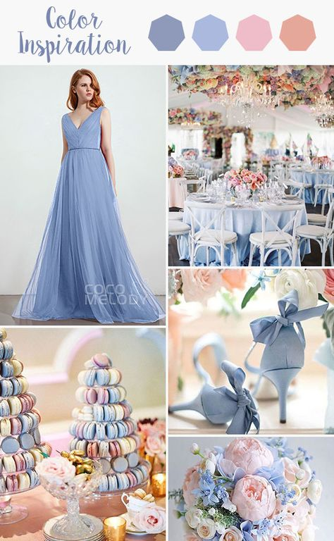 Elegant A-Line V-Neck Natural Sweep-Brush Train Tulle Sleeveless Zipper Bridesmaid Dress with Sashes and Pleating Spring Wedding Decorations, Winter Wedding Colors, Summer Wedding, Dream Wedding, Spring Wedding Flowers, Fantasy Wedding, Wedding Themes, Wedding Ideas, Spring Wedding Invitations