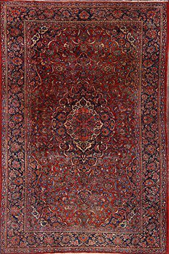 Stunning Oriental Red Floral Kashan Dabir Persian Area Rug Wool Handmade Traditional Dining Room Carpet 6x9 5 11 In 2020 Persian Area Rugs Wool Area Rugs Room Carpet