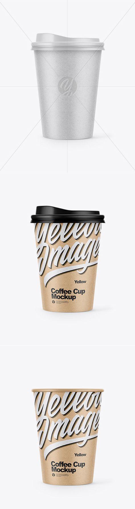 Kraft Paper Coffee Cup Mockup 42971 TIF