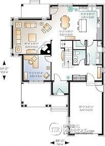 plan maison façade etroite