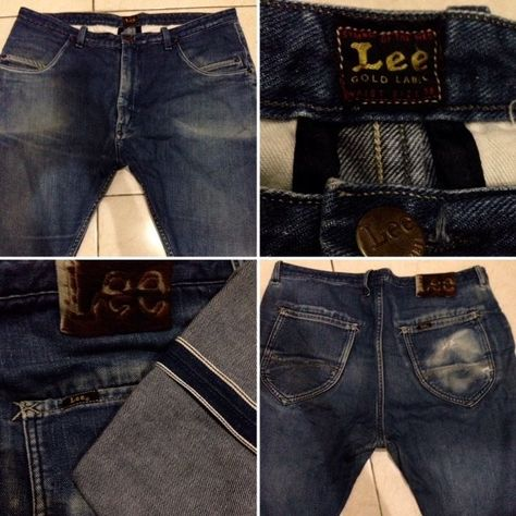 Vintage LEE Gold Label selvedge low coin packet selvedge jeans size 36 #Lee #Selvedge