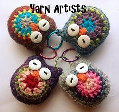 Free Owl Crochet Keychain Pattern