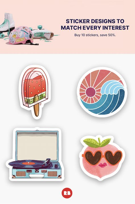 Sticker designs to match every interest. Stuff their stockings with weirdly meaningful stickers.