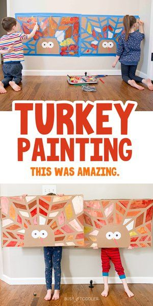 Turkey Tape Resist Art: The Coolest Thanksgiving Activity - Busy Toddler