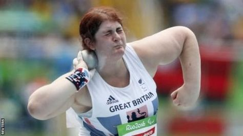 Sabrina Fortune from Flintshire set an F20 shot put personal best of 12.94m to secure bronze