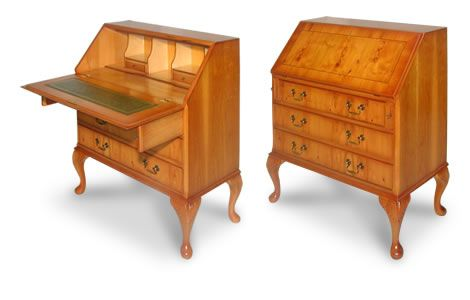 Queen Anne Classic Bureau Writing Desk With Images Classic