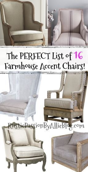 Find The Best Affordable Farmhouse Armchairs And Accent Chairs Farmhouse Accent Chair Farmhouse Living Room Furniture Farm House Living Room