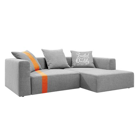 Segmüller ecksofa  Hay - Mags Sofa, 3-Sitzer, Surface 120 hellgrau