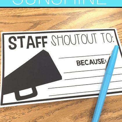 Donuts For The Staff Sunshine Idea Teach Create Motivate Teacher Motivation Staff Motivation Teacher Morale