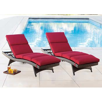 Chaise Lounge Cushions 2 Pack Outdoor Cushions Lounge Cushions