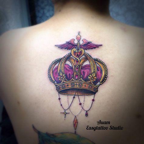 ปิดโปรเจ็คมงกุฏของหมอต้า ฉันเป็นเจ้าของชีวิตฉันเอง #today#crowntattoo #crown of doctor#customtattoo #auameasytattoo #easytattoostudio #femaletattooers #thaitattooartist