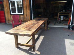 1 450 218 0815 Table En Bois De Grange Mobilier Antique Soumission Monteregiennes Quebec Ci Decoration Interieure Mobilier De Salon Interieur Maison