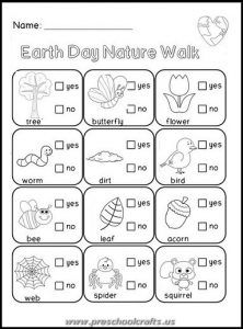 Free Earth Day Mini Book for Kindergarten Kindergarten Earth and