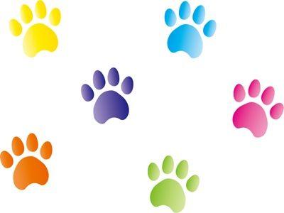 年賀状 イラスト 犬 足跡 年賀状 デザイン イラスト 犬 足跡 イラスト