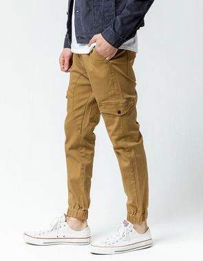 Full Blue Big Mens Cargo Shorts with Expandable Waist