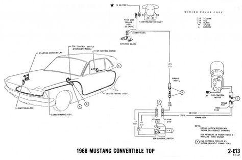 1968 Mustang Wiring Diagrams And Vacuum Schematics Diagram 1968 Mustang Mustang