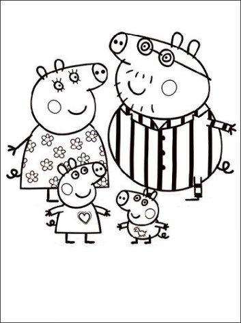 Dibujos De Peppa Pig Para Colorear Pintar E Imprimir Peppa Pig