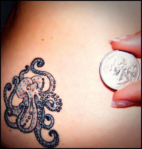 Colored octopus - Another small tattoo idea. #TattooModels #tattoo