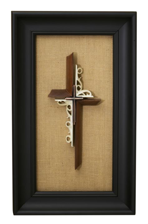 New Unity Cross design! Brides now have the option to display their Unity Cross in a frame!  Solid Black Walnut with Antique Copper  #unitycross #wedding #unityceremony #frame #burlap