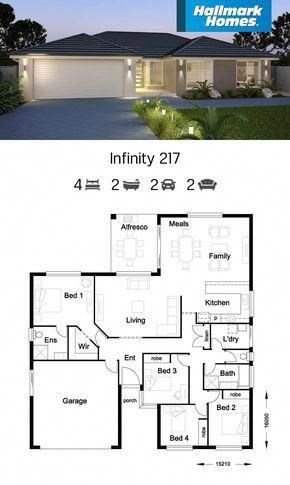 If You Have A Shallow Block Of Land The Infinity 217 Might Be The Answer Large Living Areas Flow Free House Plans House Plan Gallery House Construction Plan