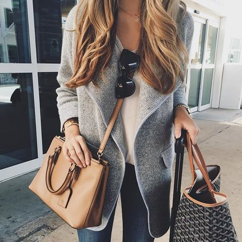 I love the open and draped style of the cardigan.