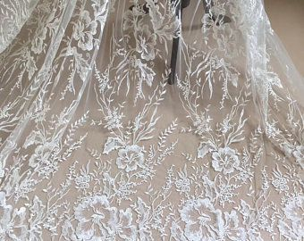 11 cm or blanc//brodé Ivoire Guipure Dentelle Mariée Mariage robe de bal Trim