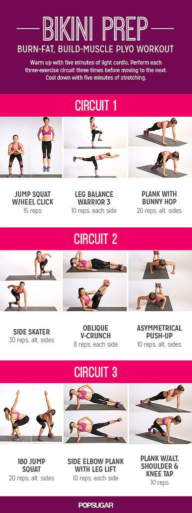 Bikini Prep: Burn-Fat, Build-Muscle Plyo Workout {bikini body workout day 21 / pop sugar fitness}
