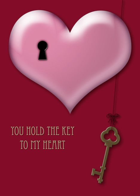 You Hold The Key To My Heart Heart With Keyhole And Key Card Ad Affiliate Key Hold Heart Card Key To My Heart Cards Greeting Card Artist