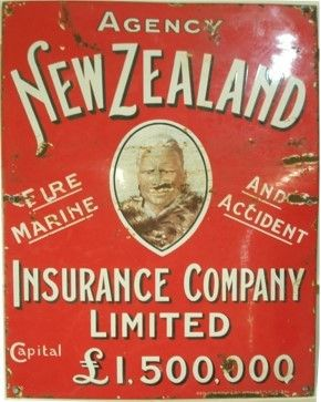 Agency Advertising Sign New Zealand Insurance Company Ltd With