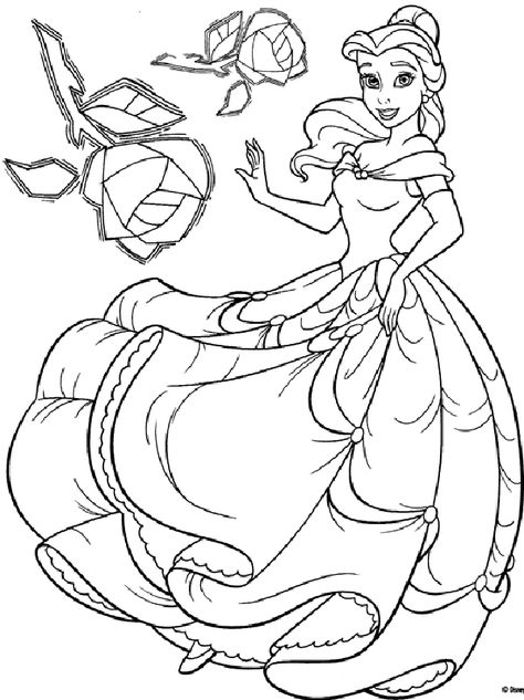 Princess Disney Coloring Pages For Kids