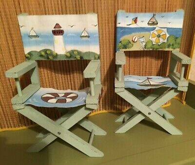 Details About Beach Decor Shelf Sitters 2 Chairs Sign 2020 Wooden Wall Art Decor Shelf Decor Beach Decor
