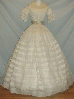 Gossamer White Cotton Dress, c.1860