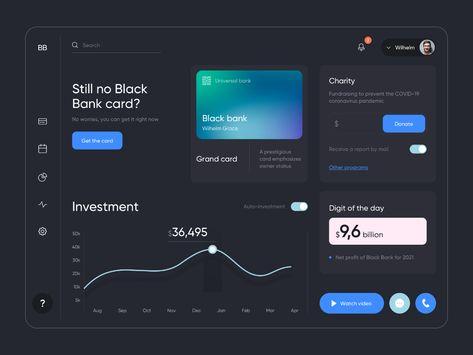 Black Bank - Dashboard Design