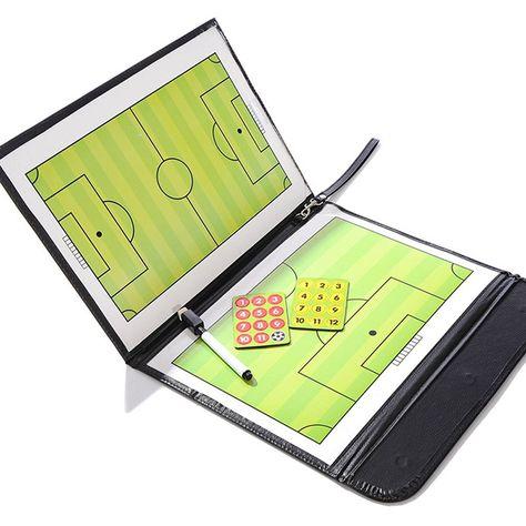 New Coaching Board Magnetic Soccer Coach Board Folding Football Coaching Tactics Tactical Plate Book Set With Pen Clipboard Football Soccer Coaching Soccer