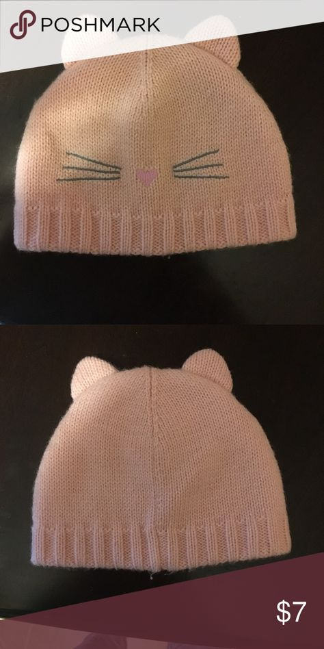Baby girls hat Kitty baby girls pink hat from old navy size 3-6 months Old  Navy Accessories Hats b73e0bd0bdf