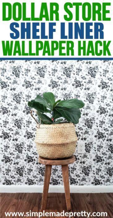 Dollar Store Hack Peel And Stick Wallpaper Dollar Stores Dollar Store Diy Dollar Store Hacks