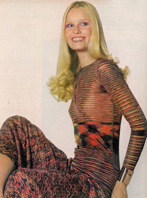 Gunilla Lindblad by Irving Penn, Wearing Missoni Photo Vogue 1971