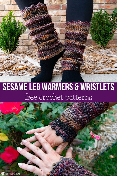 The weather has turned which means my ankles are always cold and leg warmers are a must! Whip up these super quick leg warmers to keep those ankles warm! Crochet Arm Warmers, Crochet Boot Cuffs, Crochet Boots, Crochet Gloves, Crochet Slippers, Crochet Headbands, Knit Headband, Baby Headbands, Quick Crochet