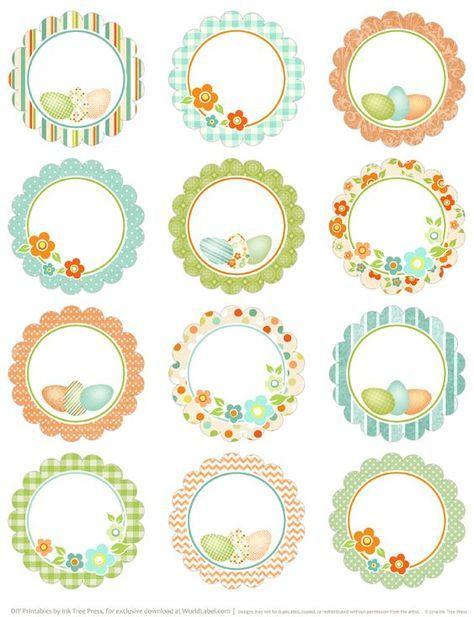 Round Easter Labels - free printables on Blog Worldlabel